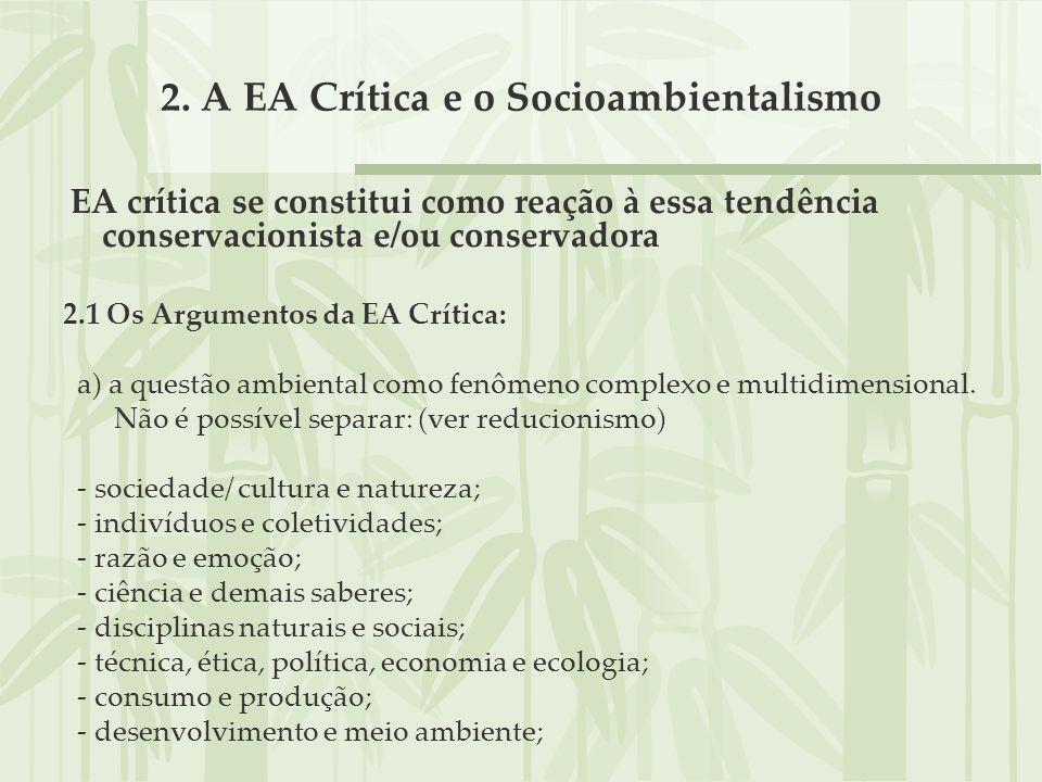 2. A EA Crítica e o Socioambientalismo