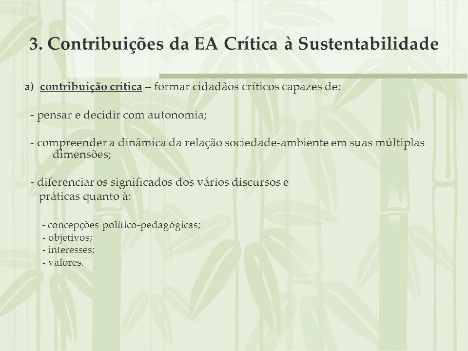 3. Contribuições da EA Crítica à Sustentabilidade