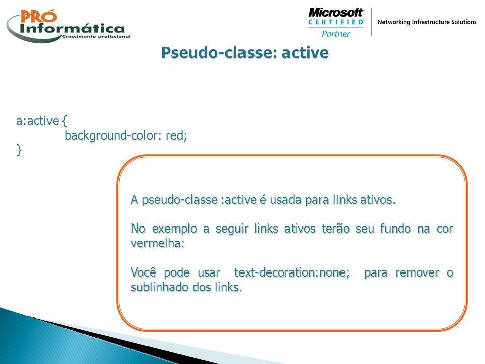 Pseudo-classe: active