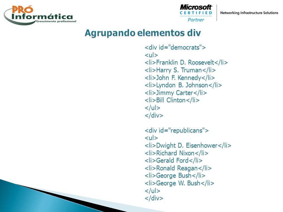 Agrupando elementos div