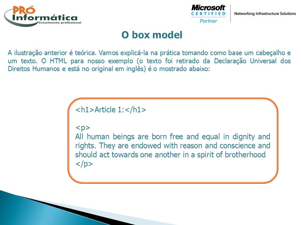 O box model <h1>Article 1:</h1> <p>