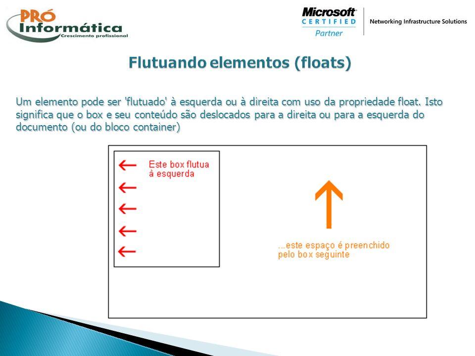 Flutuando elementos (floats)