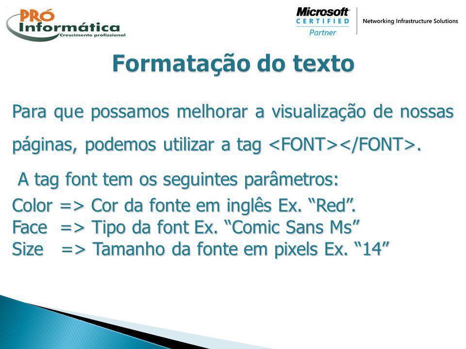 Formatação do texto