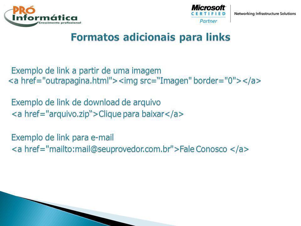Formatos adicionais para links
