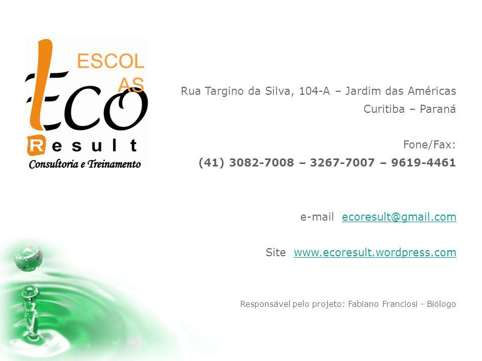 ESCOLAS Rua Targino da Silva, 104-A – Jardim das Américas