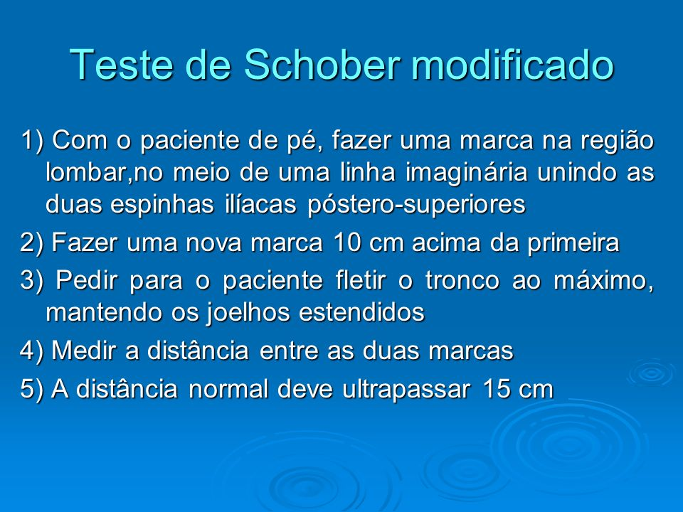Teste de Schober modificado