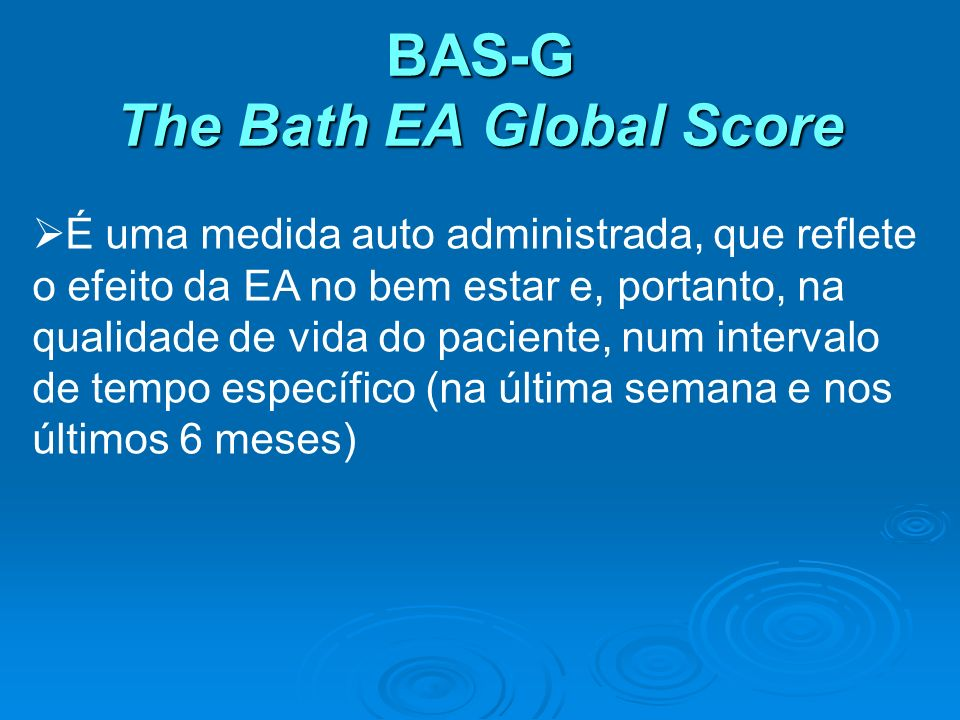 BAS-G The Bath EA Global Score