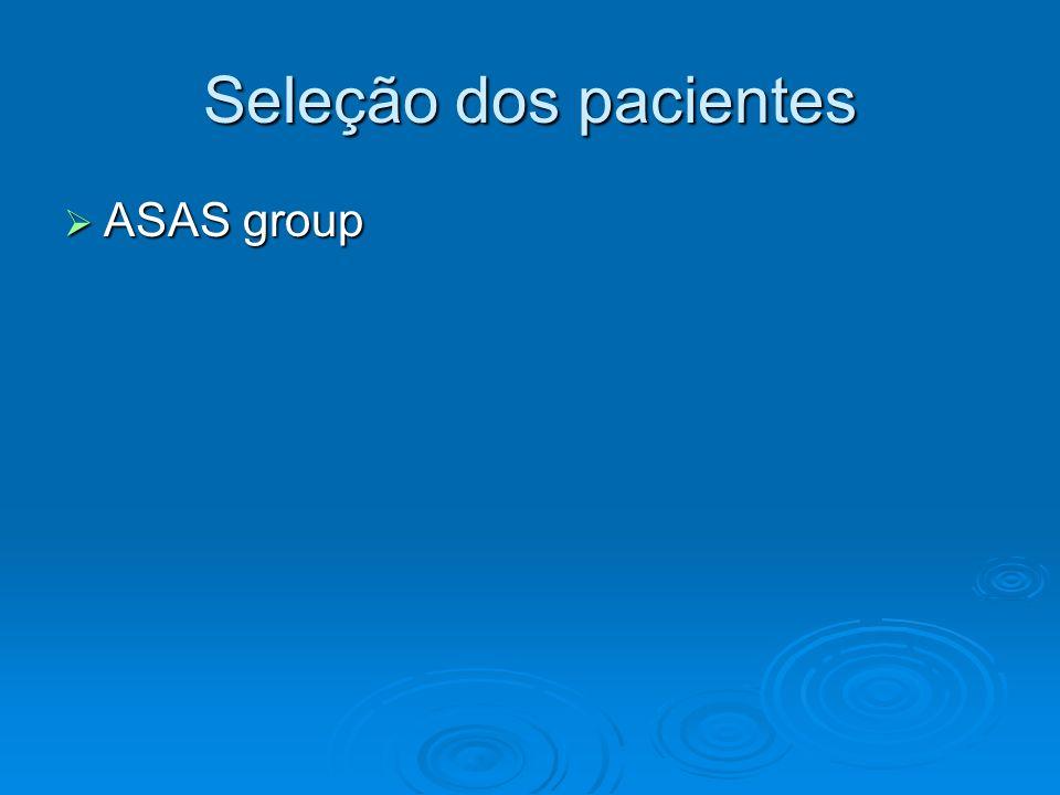 Seleção dos pacientes ASAS group