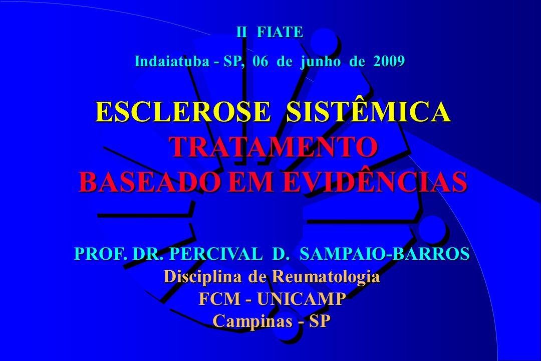 ESCLEROSE SISTÊMICA TRATAMENTO BASEADO EM EVIDÊNCIAS