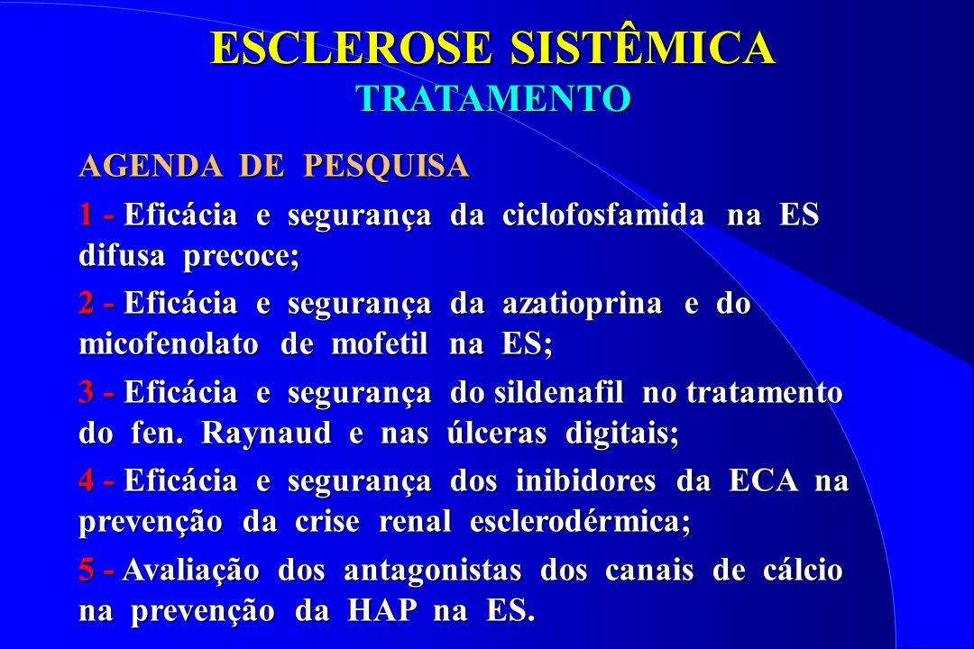 ESCLEROSE SISTÊMICA TRATAMENTO AGENDA DE PESQUISA