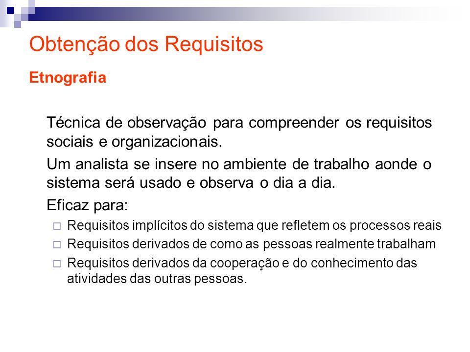 Obtenção dos Requisitos