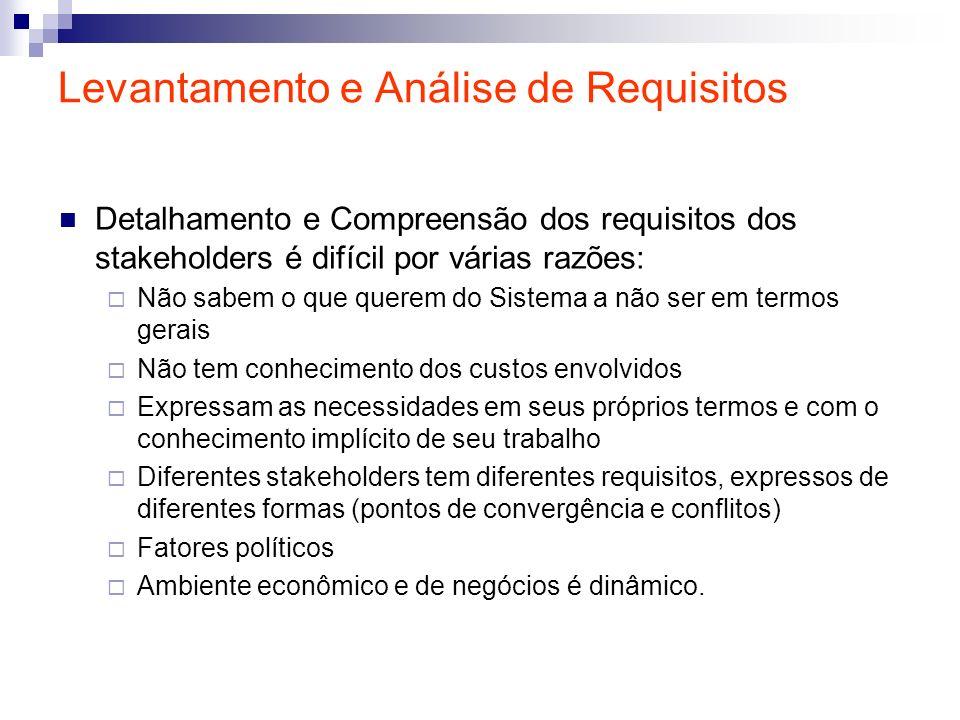Levantamento e Análise de Requisitos