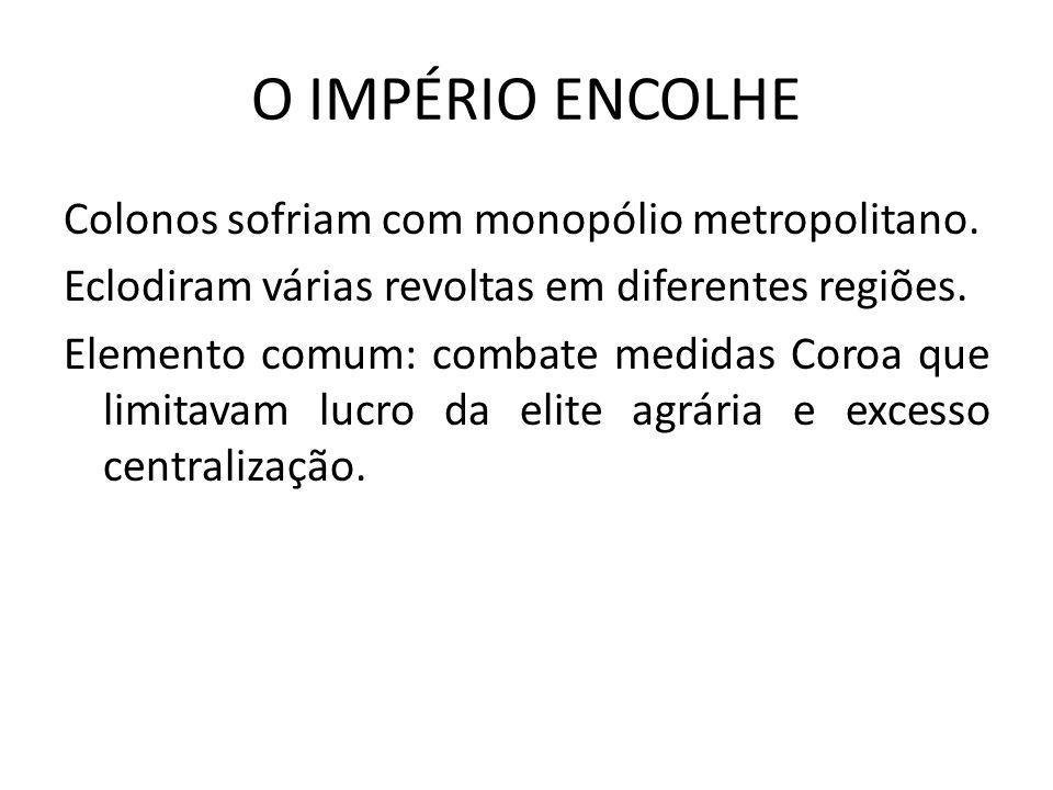 O IMPÉRIO ENCOLHE