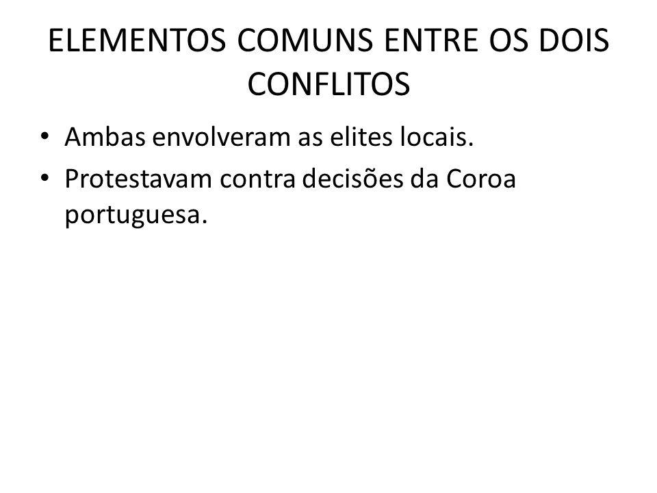 ELEMENTOS COMUNS ENTRE OS DOIS CONFLITOS