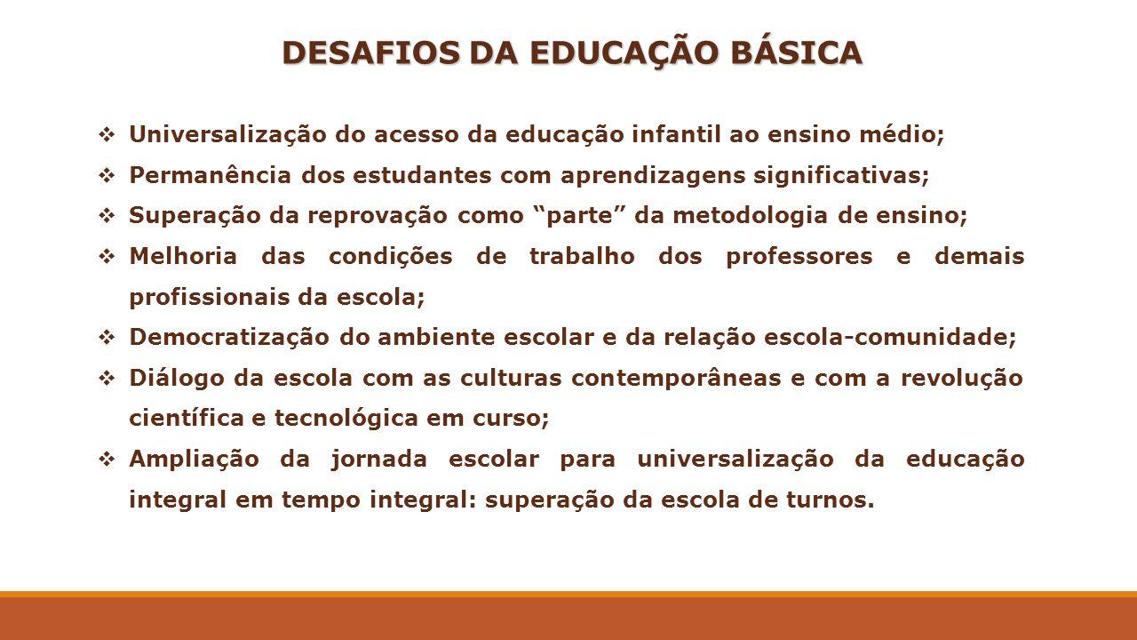 DESAFIOS DA EDUCAÇÃO BÁSICA