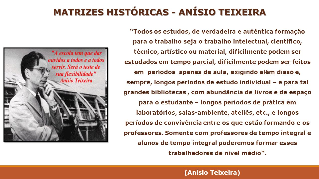 MATRIZES HISTÓRICAS - ANÍSIO TEIXEIRA