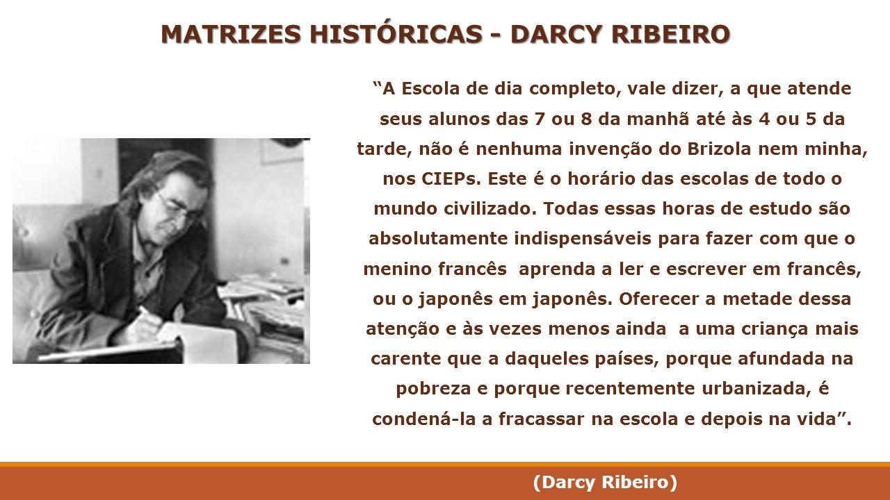 MATRIZES HISTÓRICAS - DARCY RIBEIRO