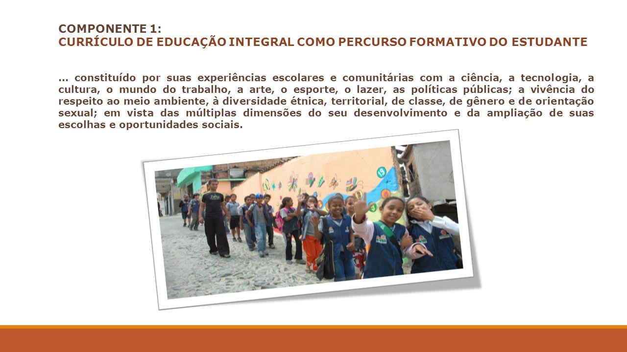 CURRÍCULO DE EDUCAÇÃO INTEGRAL COMO PERCURSO FORMATIVO DO ESTUDANTE