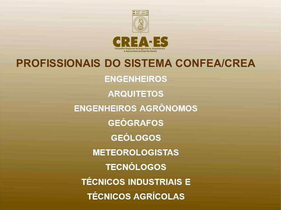 PROFISSIONAIS DO SISTEMA CONFEA/CREA