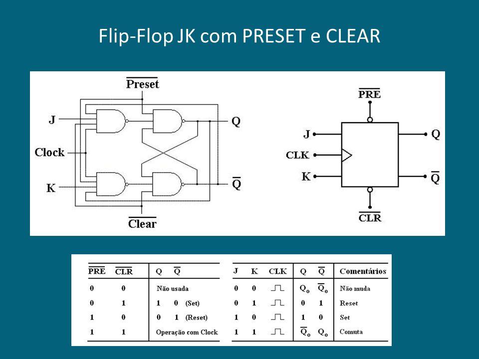Flip-Flop JK com PRESET e CLEAR