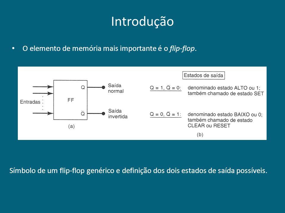 Introdução O elemento de memória mais importante é o flip-flop.