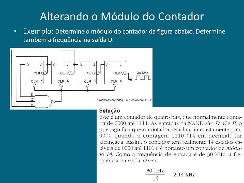 Alterando o Módulo do Contador