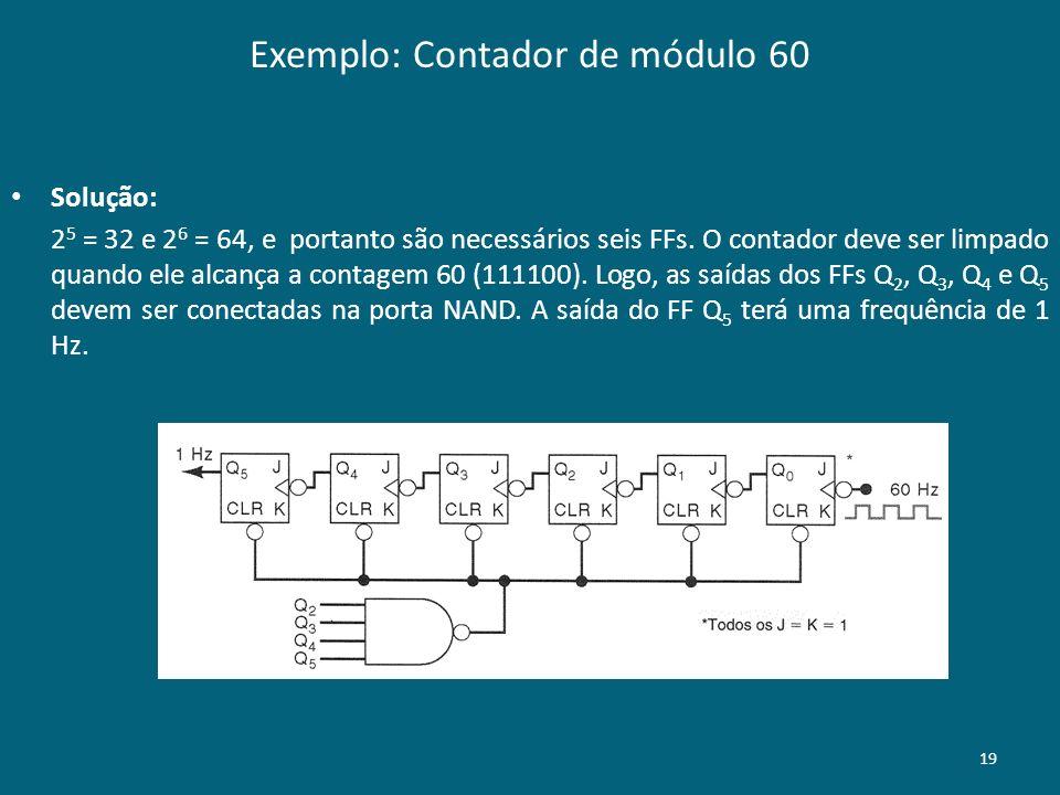 Exemplo: Contador de módulo 60
