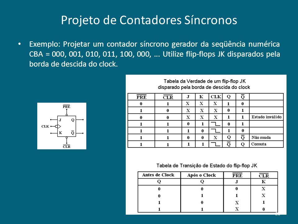 Projeto de Contadores Síncronos