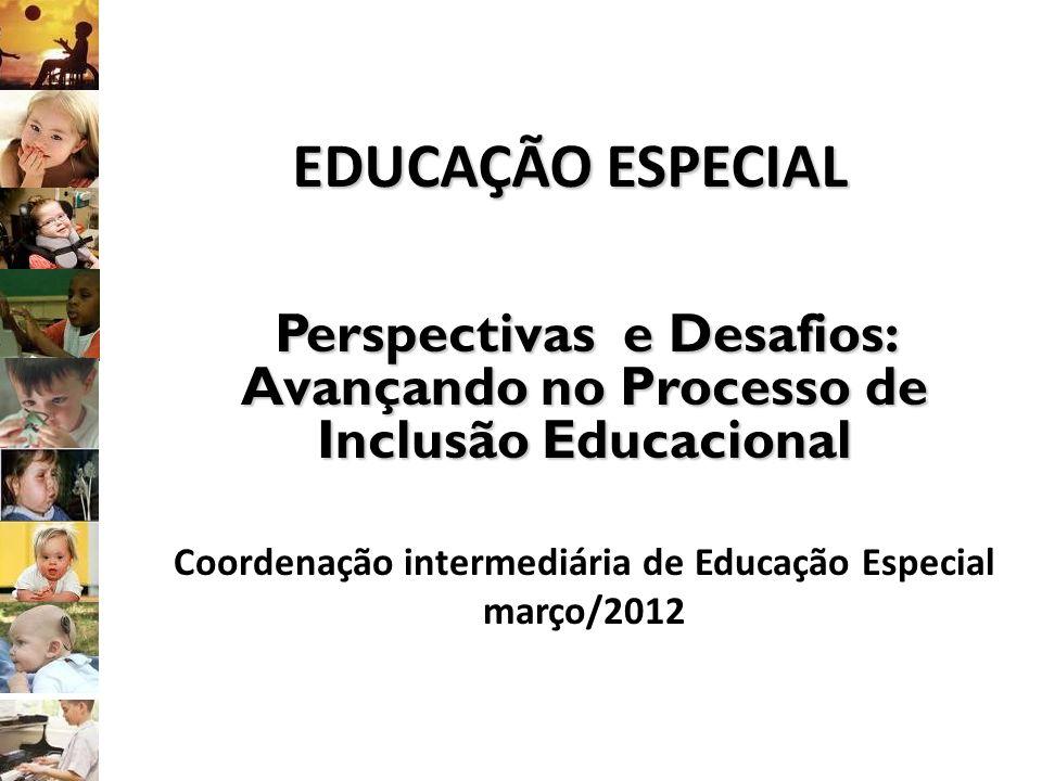 EDUCAÇÃO ESPECIAL Perspectivas e Desafios: Avançando no Processo de Inclusão Educacional. Coordenação intermediária de Educação Especial.