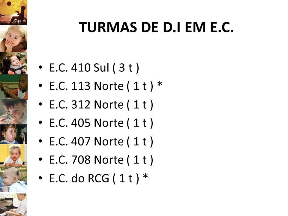 TURMAS DE D.I EM E.C. E.C. 410 Sul ( 3 t ) E.C. 113 Norte ( 1 t ) *