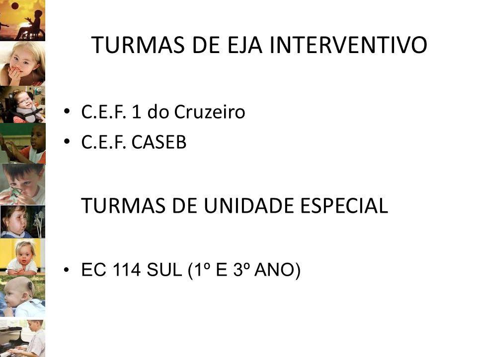 TURMAS DE EJA INTERVENTIVO