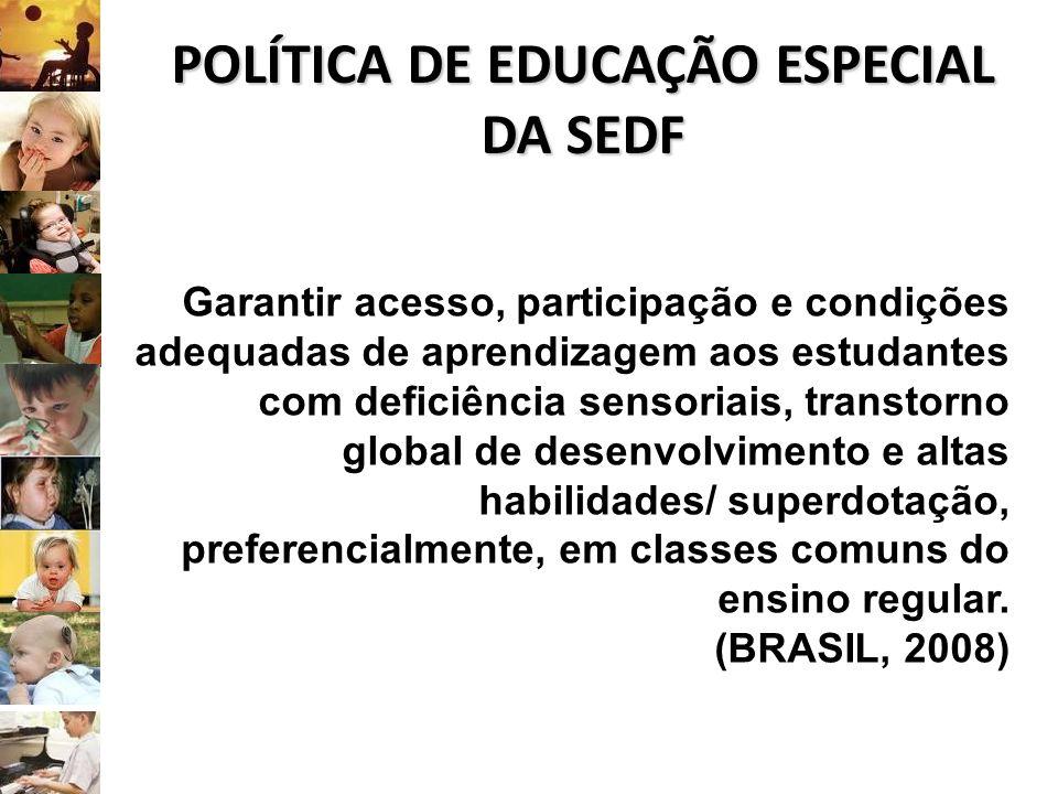 POLÍTICA DE EDUCAÇÃO ESPECIAL DA SEDF