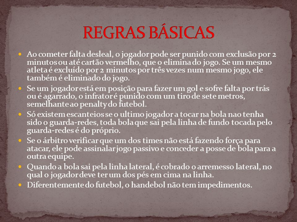REGRAS BÁSICAS