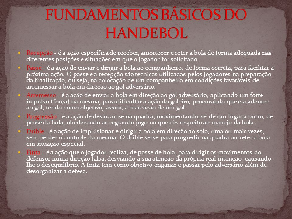 FUNDAMENTOS BÁSICOS DO HANDEBOL