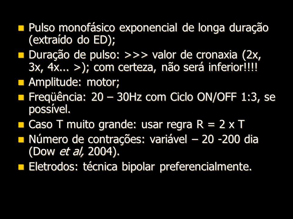 Pulso monofásico exponencial de longa duração (extraído do ED);