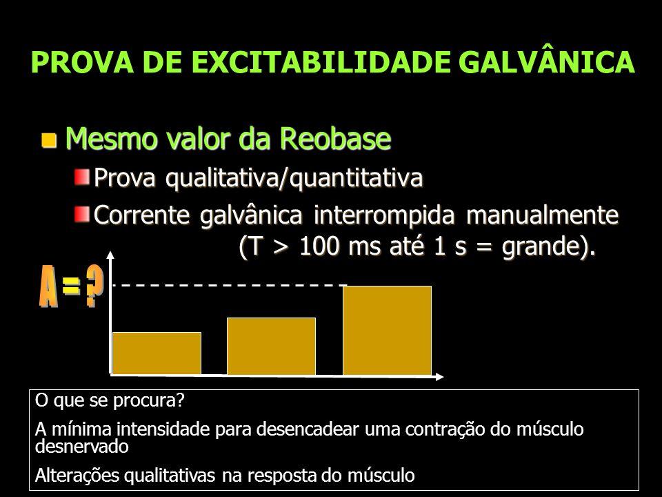 PROVA DE EXCITABILIDADE GALVÂNICA
