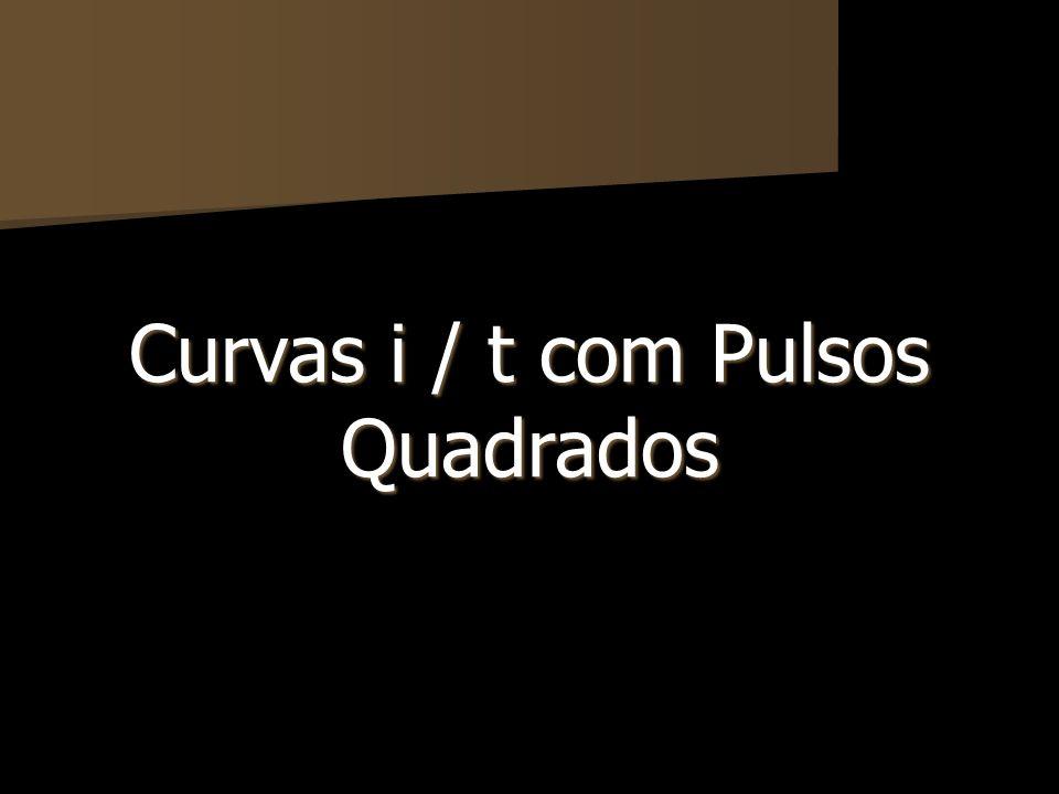 Curvas i / t com Pulsos Quadrados