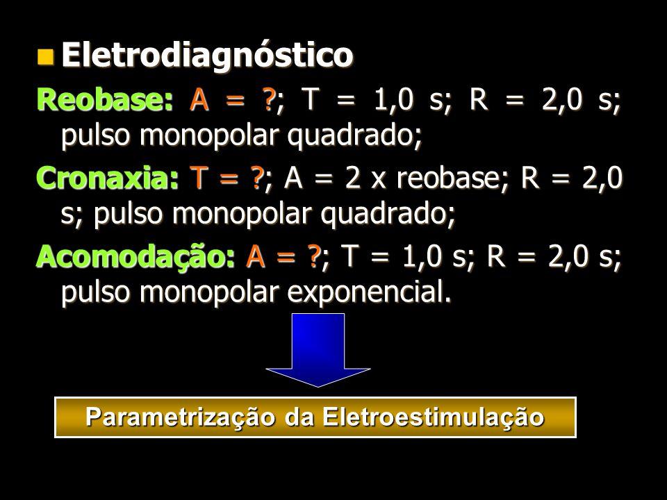 Parametrização da Eletroestimulação