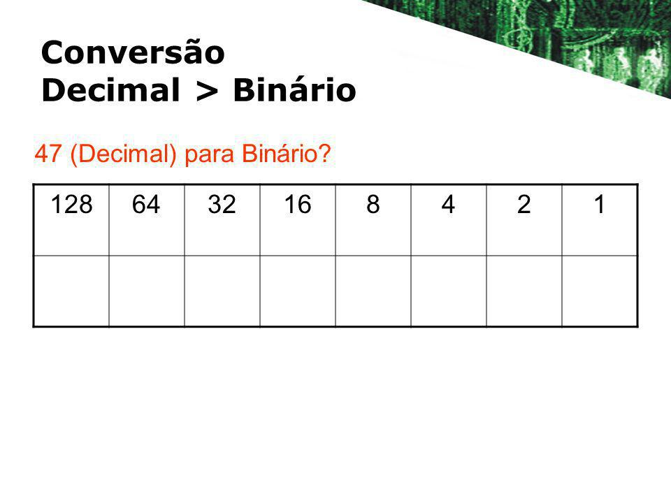 Conversão Decimal > Binário