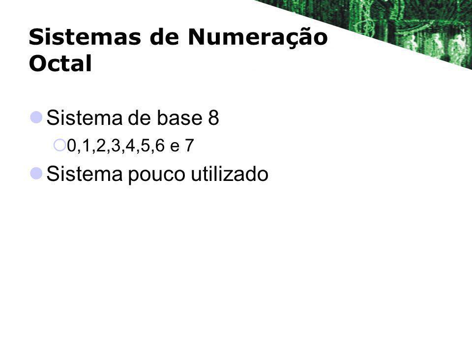 Sistemas de Numeração Octal