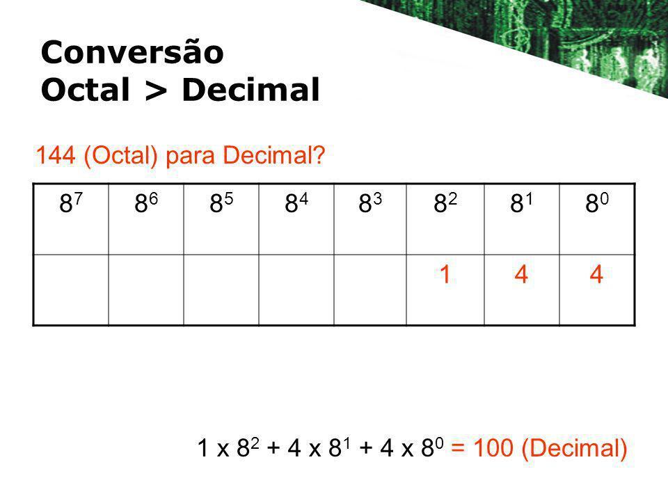 Conversão Octal > Decimal