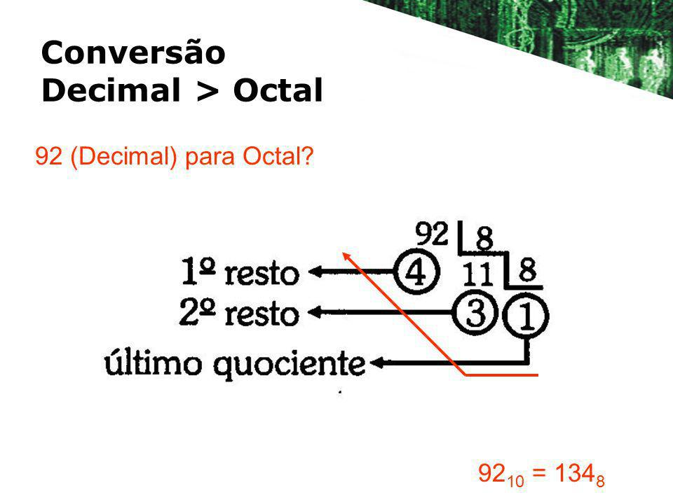 Conversão Decimal > Octal