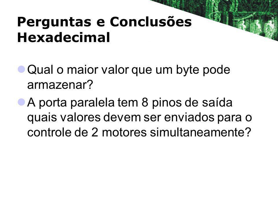 Perguntas e Conclusões Hexadecimal