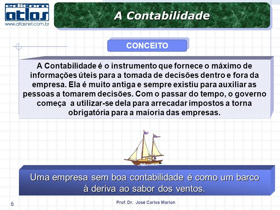 A Contabilidade Uma empresa sem boa contabilidade é como um barco