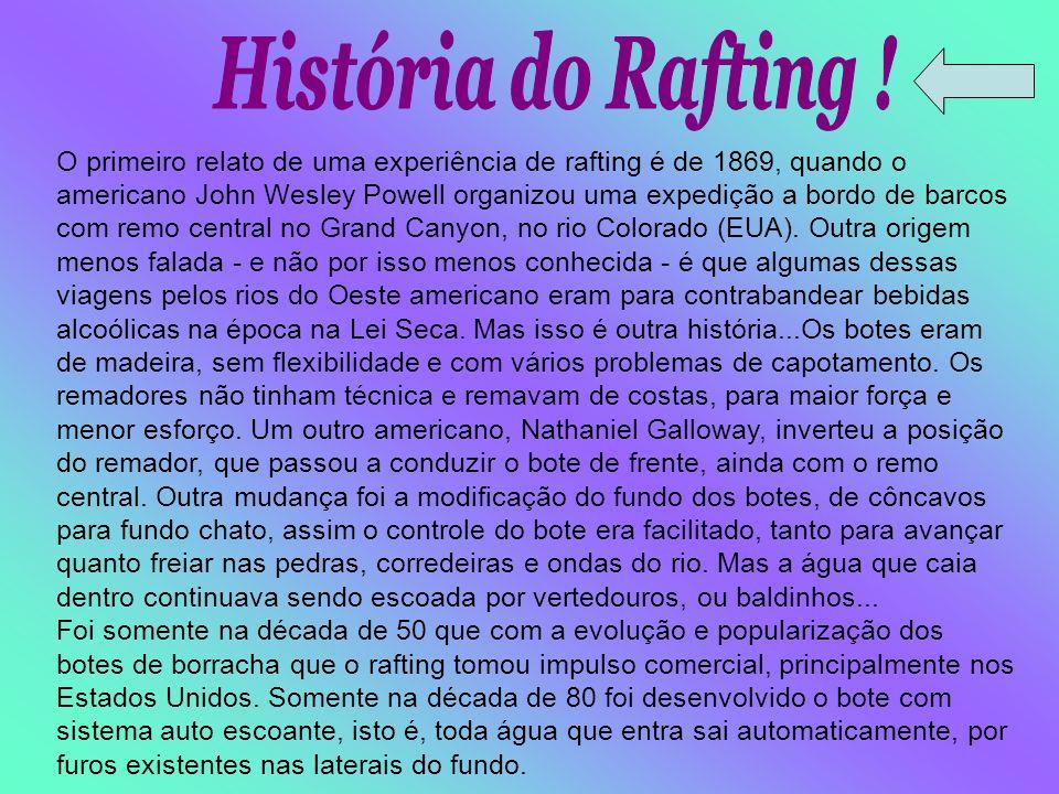 História do Rafting !