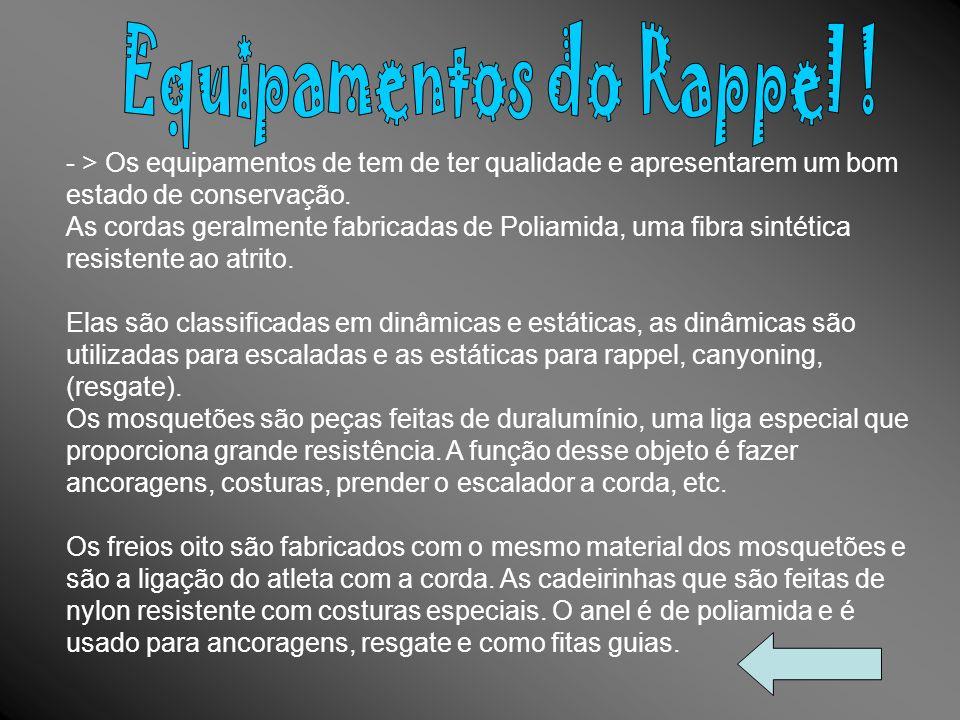 Equipamentos do Rappel !