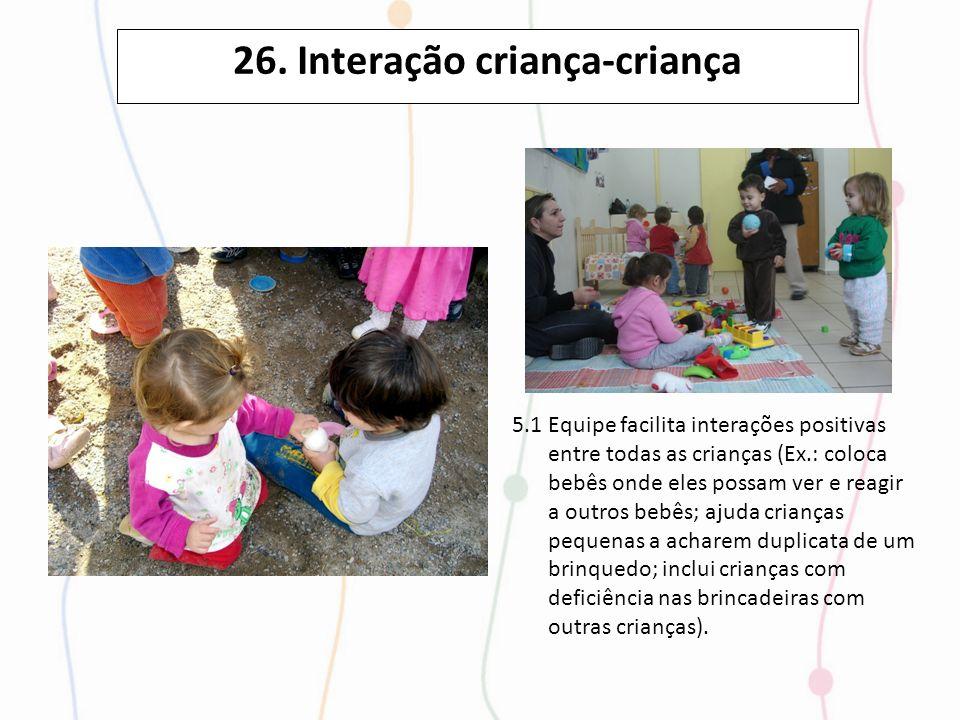 26. Interação criança-criança