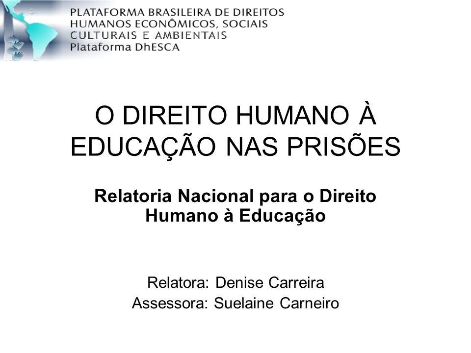 O DIREITO HUMANO À EDUCAÇÃO NAS PRISÕES