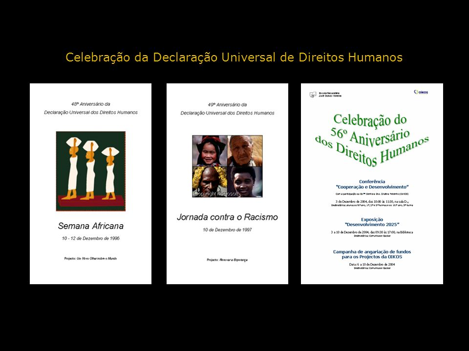 Celebração da Declaração Universal de Direitos Humanos