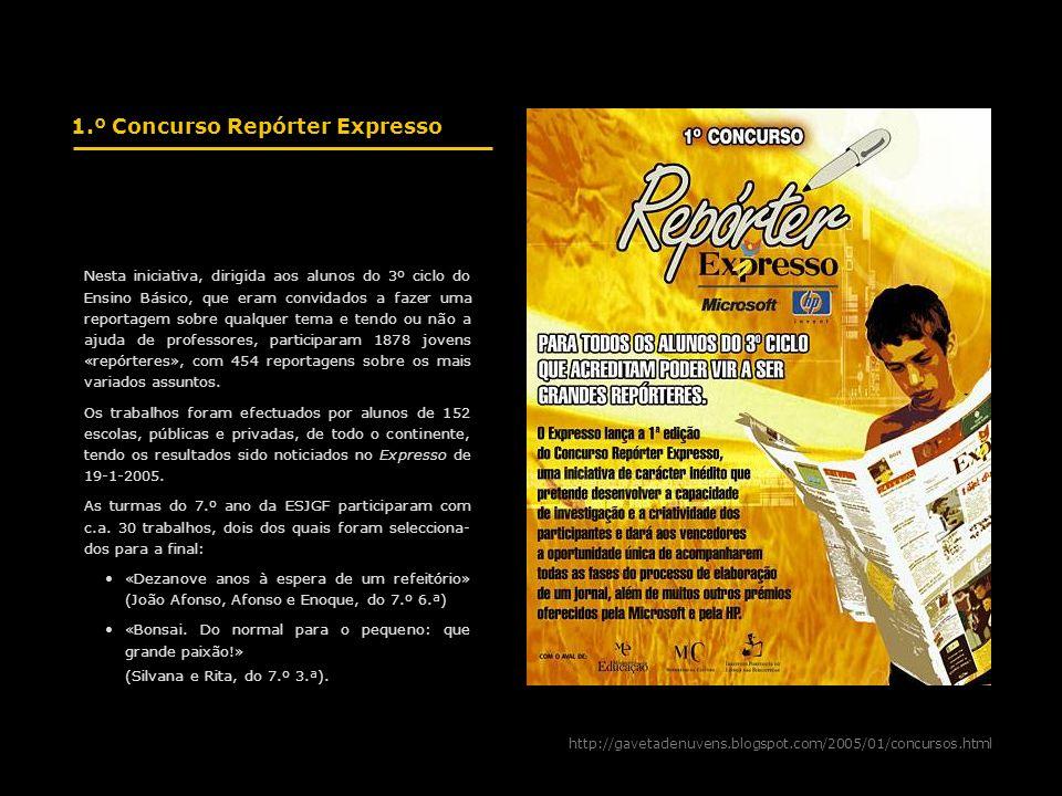 1.º Concurso Repórter Expresso